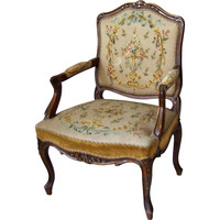 One Kings Lane - Danish Needlepoint Armchair