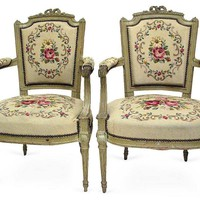 One Kings Lane - 18th-C. Louis XVI Armchairs, Pair