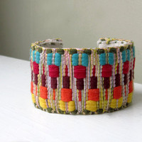 Tribal Jewelry Cuff Bracelet Boho Summer Chevron by TheWhirlwind