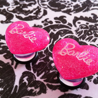 Hot Pink Barbie Plugs/Earrings