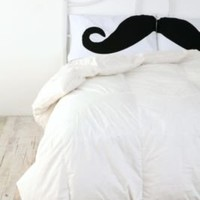 UrbanOutfitters.com > Mustache Pillowcase Set