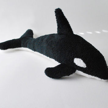 Whale Plush Toy  Orca by babycricket on Etsy