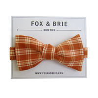 Pumpkin Plaid {bow tie} by FoxandBrie