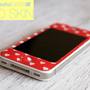iphone case - 3D Gel skin with red polka heart