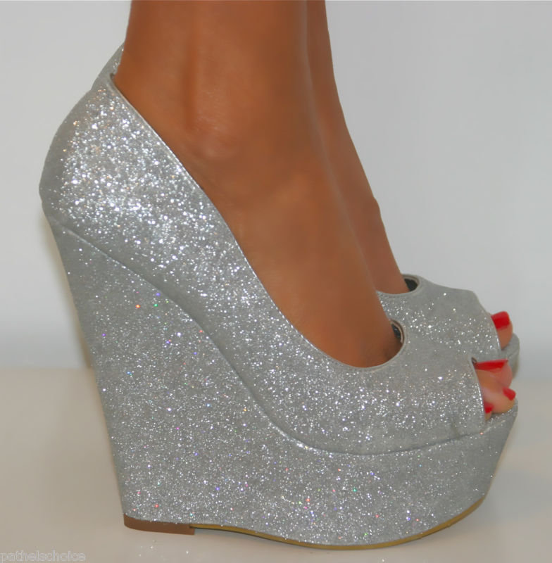 Wedges Shoes  Sparkly Wedges Shoes dd358b727077