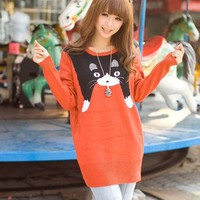 Kawaii Clothing | Jersey Gato / Cat Sweater 2WH165 | Online Store Powered by Storenvy