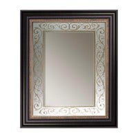 Illuminada - Antique Gold Beaded Scroll Mirror (8881) - Framed - Mirrors