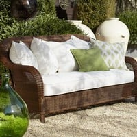 Palmetto All-Weather Wicker Sofa - Honey