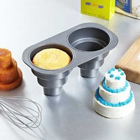 2 Cavity Three Tier Cake Pan: Kitchen &amp; Dining
