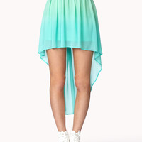 High-Low Ombré Skirt