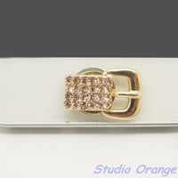 1PC Bling  Paved Crystal Belt Alloy Apple by StudioOrangeStar