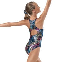 Metallic Jungle Print Gymnastics Leotard; Balera