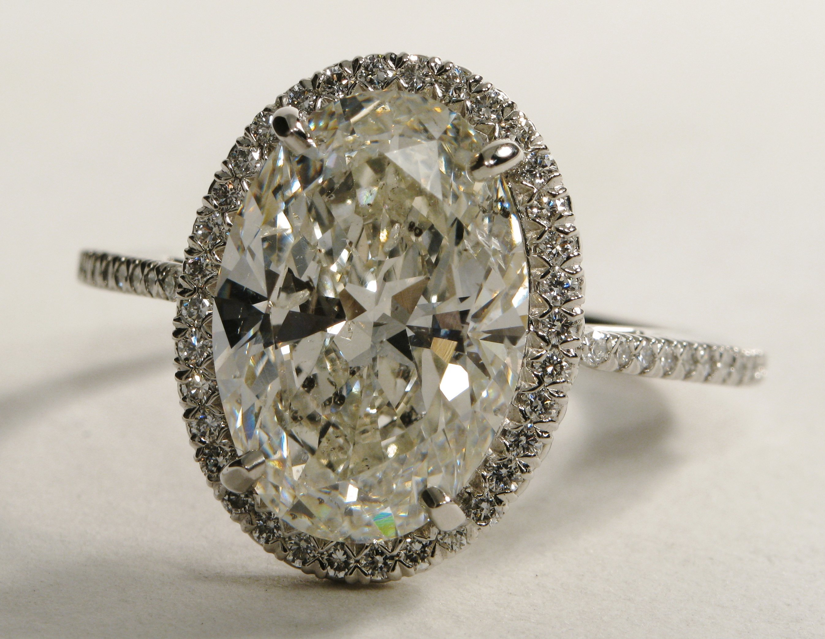 Oval Halo Diamond Engagement Ring from Blue Nile