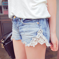 Hailey. vintage lace pocket shorts. boho. summer. reserved