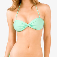 Gathered Bandeau Bikini Top | FOREVER 21 - 2040495964
