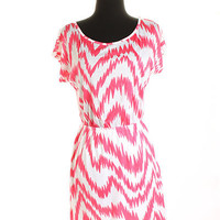 Wavy Pink Dress from Shopbellastyle