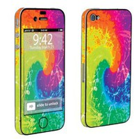Apple iPhone 4 or 4s Full Body Decal Vinyl Skin - Tie Dye By SkinGuardz: Cell Phones & Accessories