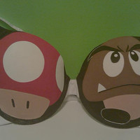 Mario Mushroom and Goomba Bra
