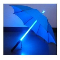 LED Light Umbrella -Blue with Blue Lighted Rod: Everything Else
