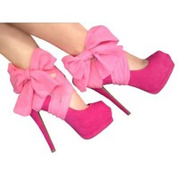 Heel Condom in Hot Pink: Shoes
