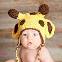 Pdf Giraffe Crochet Hat Pattern 0-3 Month Only