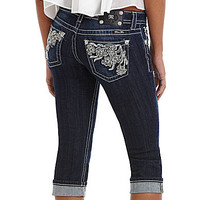 Miss Me Floral Embroidered Capri Jeans | Dillards.com