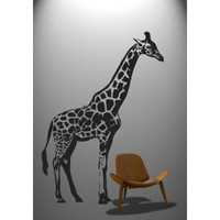 Stickerbrand Vinyl Wall Decal Sticker 7ft Tall BIG Giraffe 84&amp;quot;x59&amp;quot; #383A: Everything Else