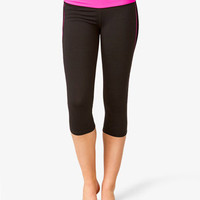 Contrast Trim Skinny Workout Capris