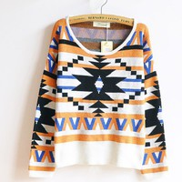 The geometric patterns hedging national wind thick sweaters sweater FSMY207