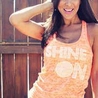SHINE On  Burnout ALine Racerback Tank  by FiredaughterClothing