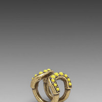 Giles Cortina Cab Ring in Brass Ox & Citron from REVOLVEclothing.com