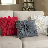 3-D Floral Pillows @ Fresh Finds