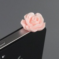 Amazon.com: ZuGadgets 3.5mm Plug Pink Rose Flower Earphone Jack Accessory Plug / Ear Cap / Anti-dust Plug /Dust Stopper for iPhone,S3,HTC,Mobile Phones with 3.5mm Jack (7756-28): Cell Phones & Accessories
