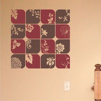 Nature Squares vinyl wall decal art