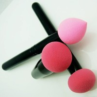 New From Cheeky, Set of 3 Pro Beauty Flawless Makeup Blender / Makeup Sponge / and Sponge Brush / Foundation Puff. Multi Shape Makeup Sponges for Your Cosmetics Needs.: Beauty