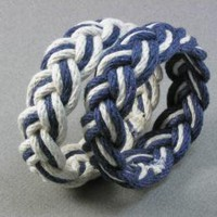 pair of navy and white turks head knot rope by WhatKnotShop