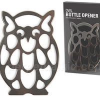 $9.99 OWL OPEN YOUR BOTTLES BOTTLE OPENER