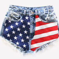 Americana High-Waisted Shorts from ShopWunderlust