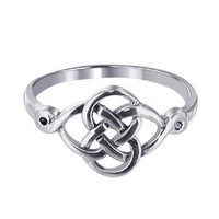 Sterling Silver Polished Finish 10 x 20mm Celtic Rounded Knot Design 2mm Wide Band Ring Size 5, 6, 7, 8, 9, 10: Jewelry