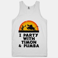 I Party With Timon And Pumba (Vintage Tank)