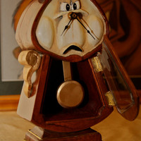 Beauty and the Beast Cogsworth Clock by CuriousCogs on Etsy