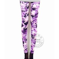 FREE SHIPPING Purple Clouds Women Legging Print Pants LSJR413