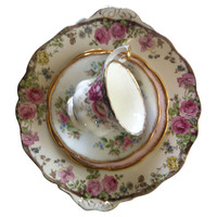 One Kings Lane - The Floral Table - Pink  Rose  China, 4 Pcs
