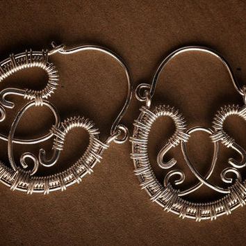 Small Silver Filigree Hoop Earrings: Meena - Made to Order