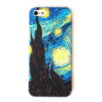 Van Gogh The Starry Night Color Phone Case For iPone 5 from Charming Galaxy