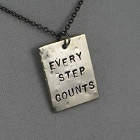 EVERY STEP COUNTS - Nickel pendants priced with Gunmetal Chain