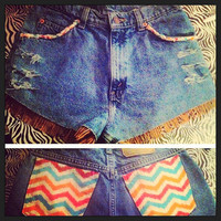 High waisted Levi's Extreme Tribal  by AngeliqueMerici on Etsy