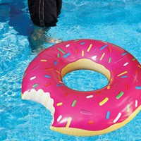 The Gigantic Donut Pool Float - Whimsical & Unique Gift Ideas for the Coolest Gift Givers