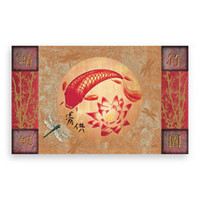 "18"" x 30"" Koi & Lotus Doormat - Bed Bath & Beyond"
