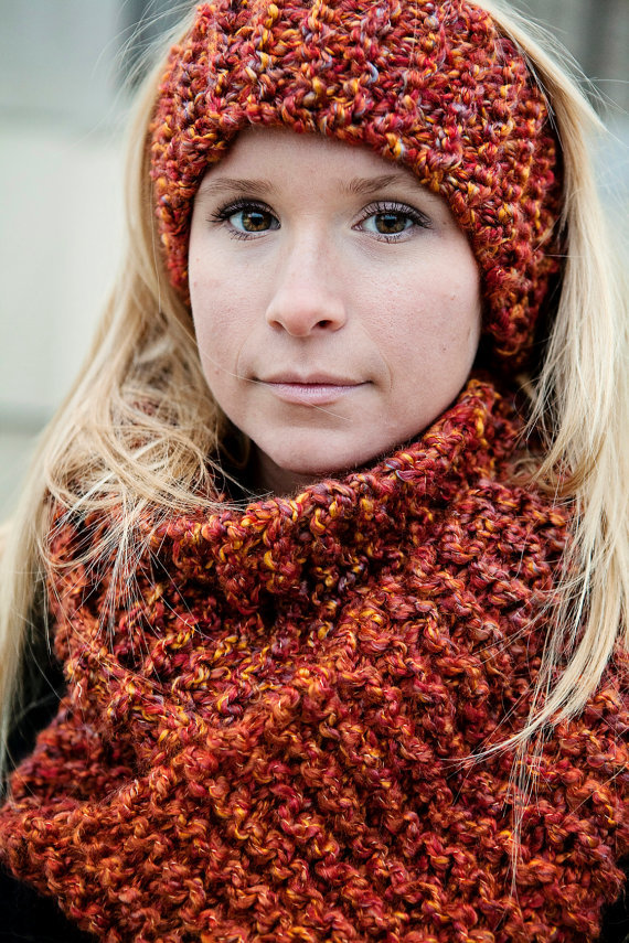 Simple Knitting Pattern For Infinity Scarf : PDF Quick and Easy Infinity Scarf from BglorifiedBoutique on Etsy